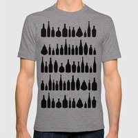 Black Bottle Multi Mens Fitted Tee Tri-Grey SMALL