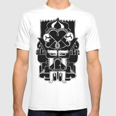 Duck Totem White SMALL Mens Fitted Tee
