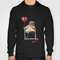 Pretty little Kitty with a heart balloon Hoody