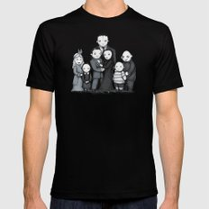 Spooky Plushie Family Black Mens Fitted Tee SMALL