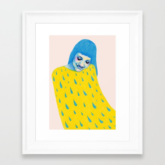Don't forget to water yourself Framed Art Print