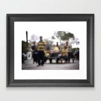 Mardi Gras Brass Band Framed Art Print