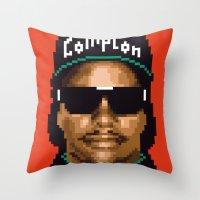 Compton city G Throw Pillow