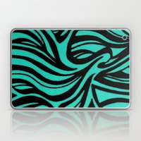 Blue & Black Waves Laptop & iPad Skin