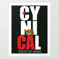 CyniCAl - White Art Print