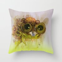 Weedy Playstation Franke… Throw Pillow