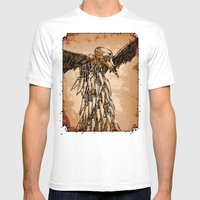 KNIFE VULTURE Mens Fitted Tee White SMALL