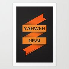YAHWEH NISSI  Art Print