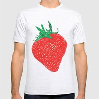 Strawberry, 2013. Mens Fitted Tee Ash Grey SMALL