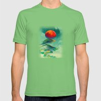 Reach The Sun! Mens Fitted Tee Grass SMALL