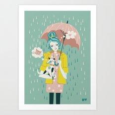 Walking the Dog Art Print