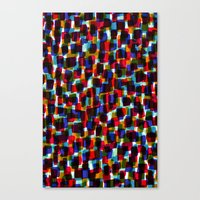 Multicoloured pattern - painted and digital. Canvas Print