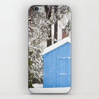 Blue Snow House  iPhone & iPod Skin