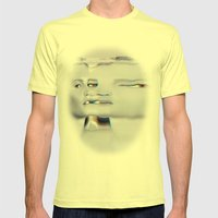 Face Melt Mens Fitted Tee Lemon SMALL