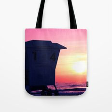 Mission Beach Sunset Tote Bag