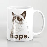 NOPE - Grumpy Cat. Mug