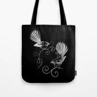 White Fantails  Tote Bag
