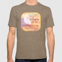 If God Is For Us Mens Fitted Tee Tri-Coffee SMALL