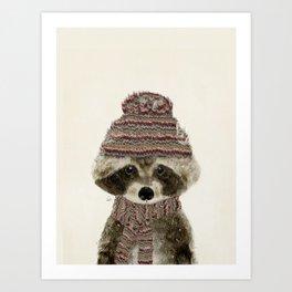Art Print - little indy raccoon - bri.buckley