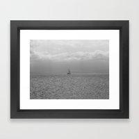 Amongst The Sea Framed Art Print