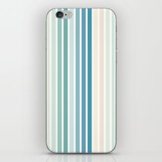 Sea Foam Stripes iPhone & iPod Skin