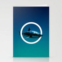 Shark. Stationery Cards