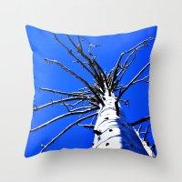Blue Sky Old White Tree … Throw Pillow