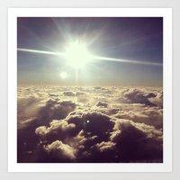 Clouds Over Texas Art Print