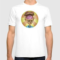 Happy Brain Mens Fitted Tee White SMALL