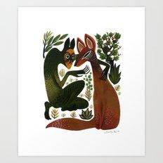 The Spirit Temptation Art Print
