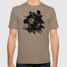 Zack de la Rocha Mens Fitted Tee Tri-Coffee SMALL