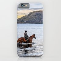 iPhone & iPod Case featuring Horse at Airds Bay Loch Etive by Bel Menpes