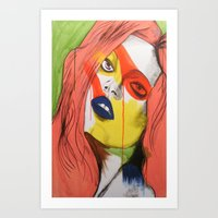 The Look Art Print