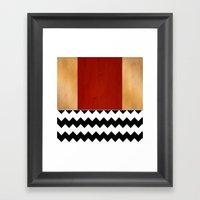 Shiny Copper Crimson Red… Framed Art Print