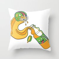 The Sports Drinker Throw Pillow