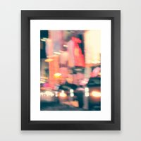 NY Lights Framed Art Print