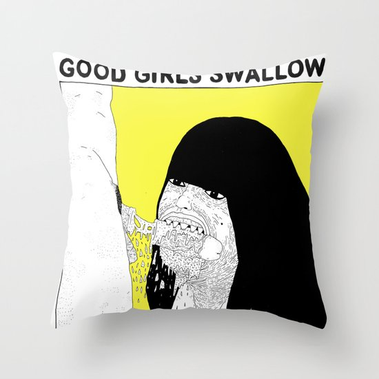 GOOD GIRLS VS RUDE GIRLS Throw Pillow