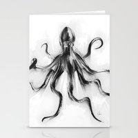 King Octopus Stationery Cards