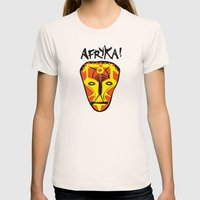 Afryka! Womens Fitted Tee Natural SMALL
