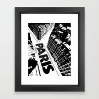 Cities in Black - Paris Framed Art Print