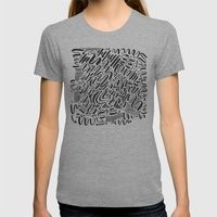 SQUIGGLY WIGGLY Womens Fitted Tee Athletic Grey SMALL