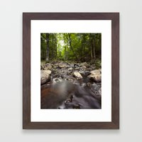 a stream Framed Art Print