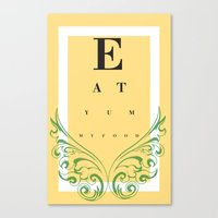 Eat Yummy Food! Canvas Print