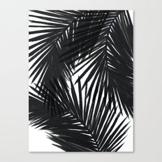 Palms Black Canvas Print