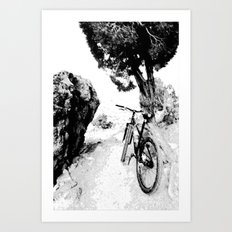 Solo Ride Before Meeting a Friend Art Print