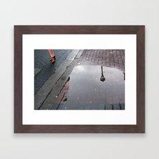 Dublin puddle Framed Art Print
