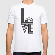LOVE Mens Fitted Tee Ash Grey SMALL