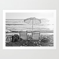 A Relaxing Day At The Beach Art Print