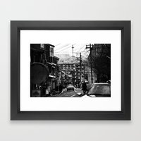 Winter Kyoto Framed Art Print