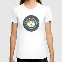 Spaceman 1 Womens Fitted Tee White SMALL